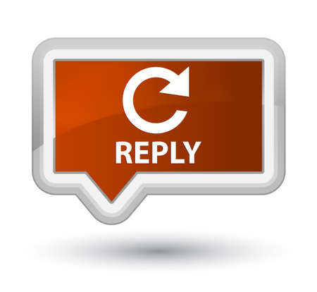 rotate: Reply (rotate arrow icon) brown banner button
