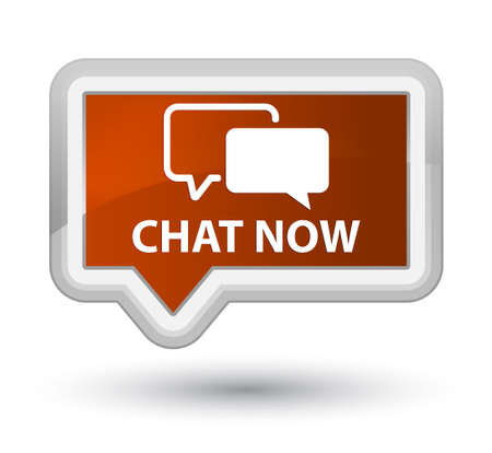 instant message: Chat now brown banner button