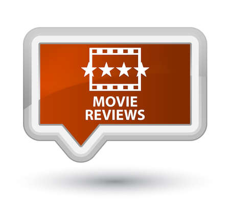 ratings: Movie reviews brown banner button
