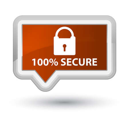 encrypt: 100% secure brown banner button