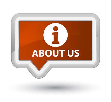 'about us': About us brown banner button