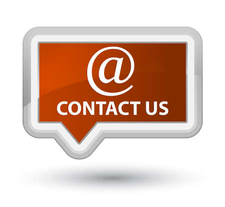 Contact us (email address icon) brown banner button Stock Photo