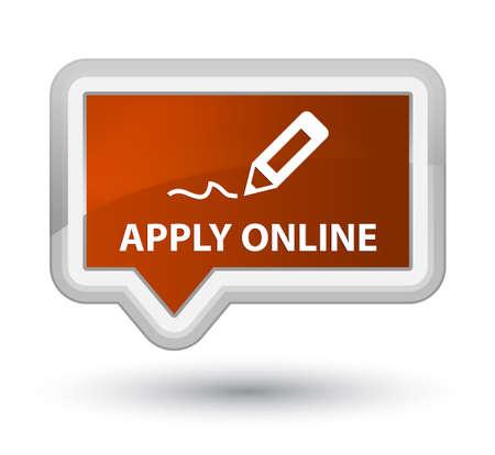 registry: Apply online (edit pen icon) brown banner button