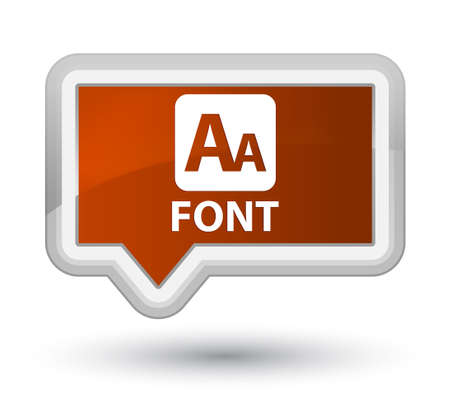 Font brown banner button