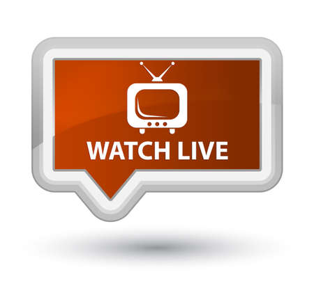 Watch live brown banner button