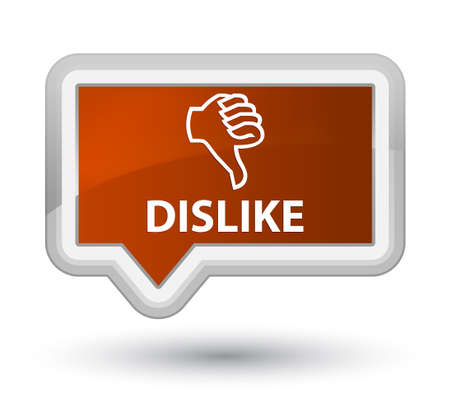 disapprove: Dislike brown banner button