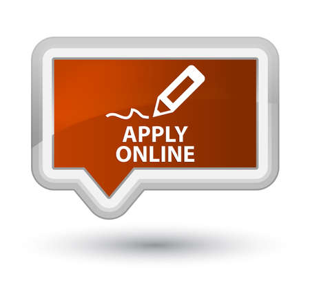 Apply online (edit pen icon) brown banner button