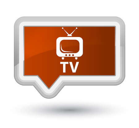 TV brown banner button