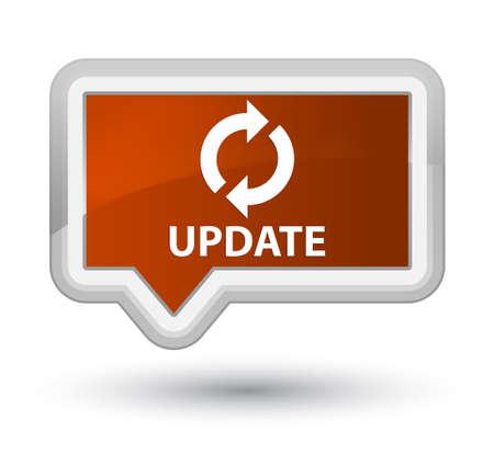 update: Update brown banner button