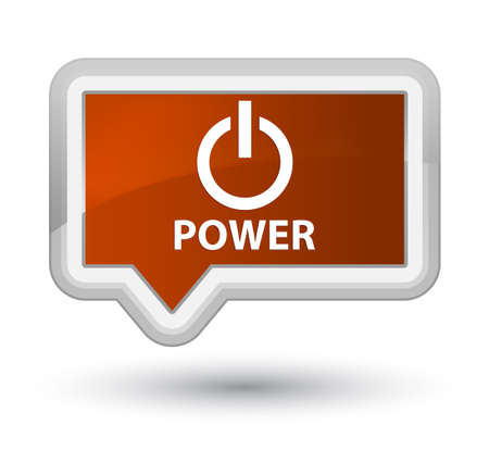 shutdown shut down: Power brown banner button
