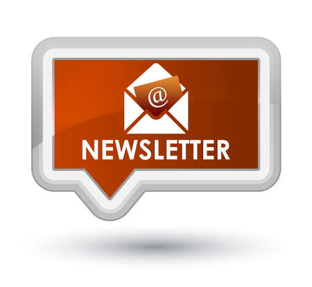 Newsletter brown banner button Stock Photo