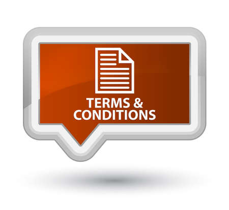 term and conditions: Terms and conditions (page icon) brown banner button