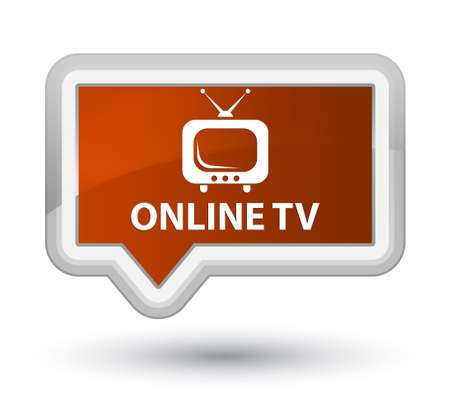 Online tv brown banner button