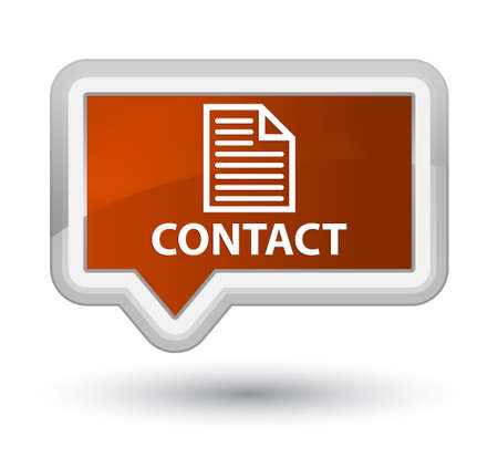 term and conditions: Contact (page icon) brown banner button Stock Photo