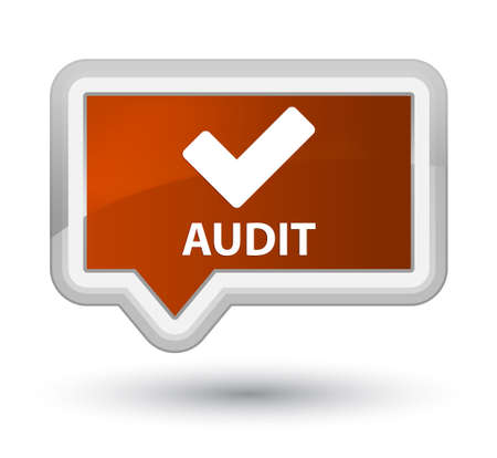 validate: Audit (validate icon) brown banner button