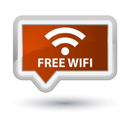 hotspot: Free wifi brown banner button Stock Photo