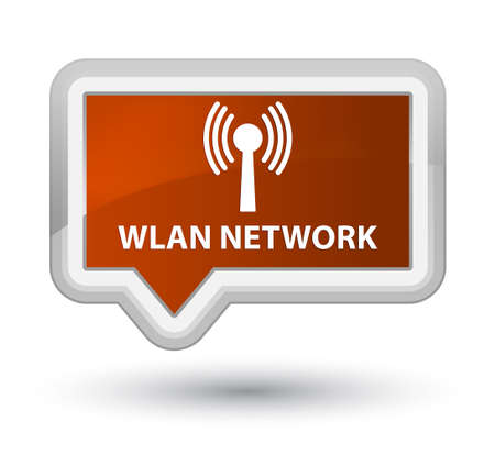 wlan: Wlan network brown banner button