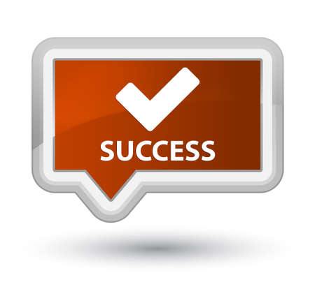validate: Success (validate icon) brown banner button