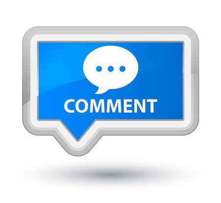 comment: Comment (conversation icon) cyan blue banner button