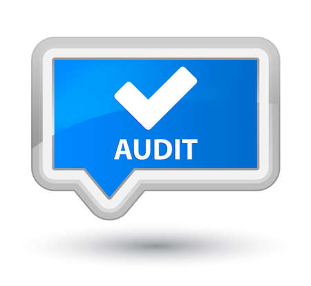 available: Audit (validate icon) cyan blue banner button Stock Photo