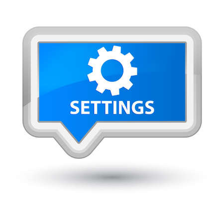 preference: Settings cyan blue banner button Stock Photo