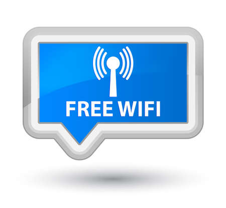 wlan: Free wifi (wlan network) cyan blue banner button