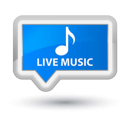 live music: Live music cyan blue banner button Stock Photo