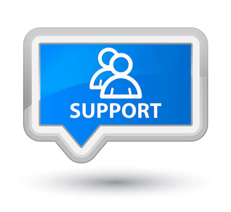support group: Support (group icon) cyan blue banner button Stock Photo