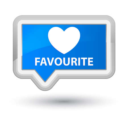 favourite: Favourite (heart icon) cyan blue banner button