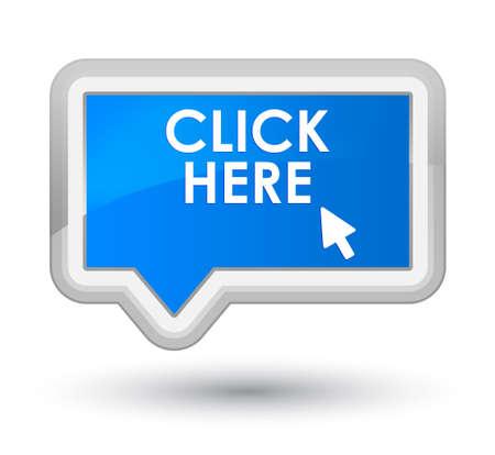 cyan: Click here cyan blue banner button