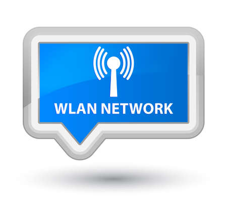 wlan: Wlan network cyan blue banner button Stock Photo