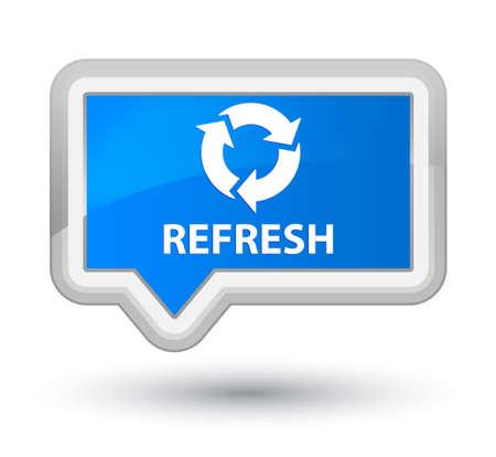 refresh button: Refresh cyan blue banner button Stock Photo