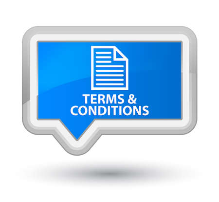 terms: Terms and conditions (page icon) cyan blue banner button Stock Photo