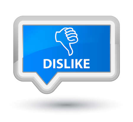 disapprove: Dislike cyan blue banner button