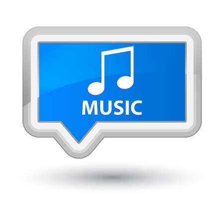 tune: Music (tune icon) cyan blue banner button