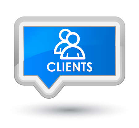 clientele: Clients (group icon) cyan blue banner button Stock Photo