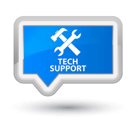 cyan business: Tech support (tools icon) cyan blue banner button Stock Photo
