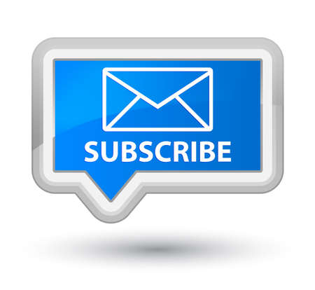 feeds: Subscribe (email icon) cyan blue banner button