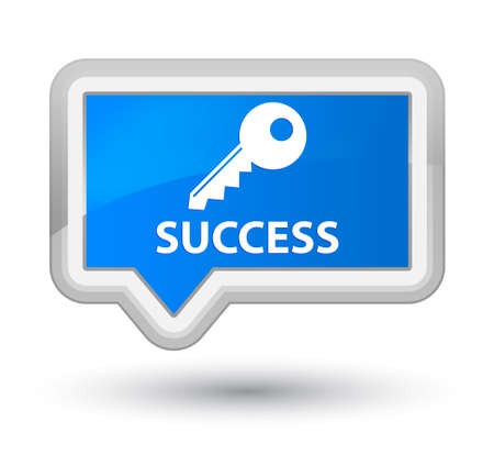 success key: Success (key icon) cyan blue banner button