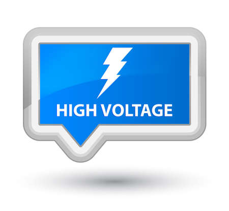 voltage: High voltage (electricity icon) cyan blue banner button