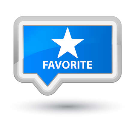 favorite: Favorite (star icon) cyan blue banner button