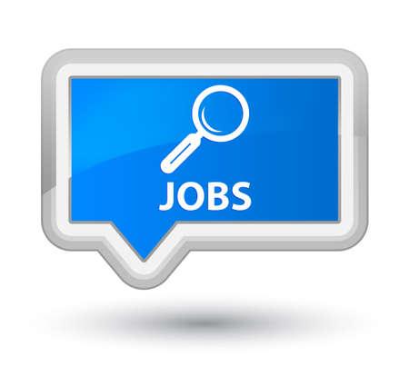 jobs: Jobs cyan blue banner button