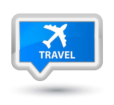 airway: Travel (plane icon) cyan blue banner button Stock Photo