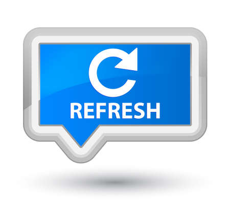 rotate: Refresh (rotate arrow icon) cyan blue banner button