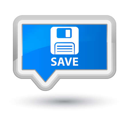 floppy disk: Save (floppy disk icon) cyan blue banner button