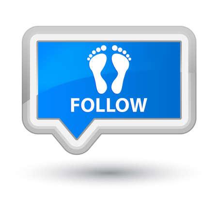 familiar: Follow (footprint icon) cyan blue banner button