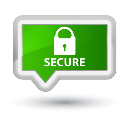 defend: Secure (padlock icon) green banner button