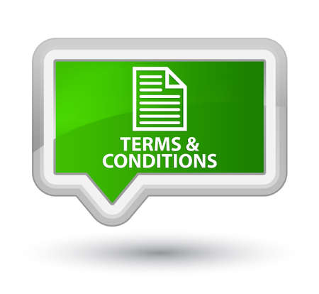 information technology law: Terms and conditions (page icon) green banner button