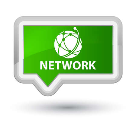 Network (global network icon) green banner button