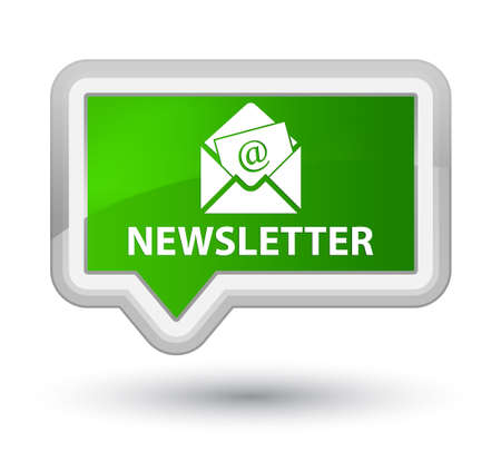 article marketing: Newsletter green banner button Stock Photo